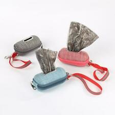 Portable Pet Dog Poop Bag Dispenser with Rope Puppy Cleaning Waste  Bags Holder