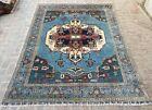 293 x 230 Cm, Best Blue Caucasian Rug, Vintage Kazak Area Decor Rug B6405