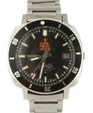 RARE Seiko Iranian Royal Army Diver Stainless Steel Black Date Watch 7005-8140