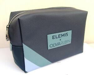 Elemis Large Olivia Rubin Navy Patterened Lined Make Up Bag