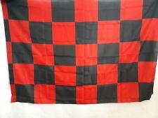 BANDIERA SCACCHI ROSSO NERA CALCIO FLAG cm 90 x 130 MILAN FOGGIA