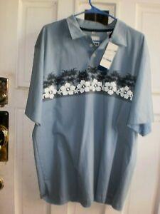 Mens Gift* Point Zero pullover NWT Hawaiian shirt sz XL 100% cott 48 ch 29 lg