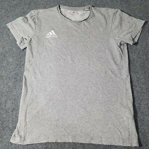Adidas Shirt womens Small Crew Neck Grey Adult crew neck Cotton S Size T Shirt