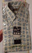 Vintage men's Le Beau Monde Collection Long Sleeve Print Dress Shirt size M