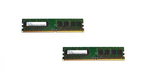 2x SAMSUNG M378T2863QZS-CF7 1GB 1RX8 PC2-6400-666-12-ZZ COMPUTER/SERVER RAM