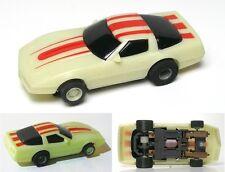 1988 TYCO HO '83 Chevy Corvette NITEGLOW Slot Car 440 Magnum Cliff Hanger 6234