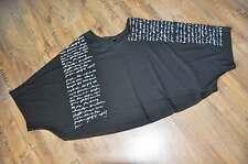 Look a strati maglietta Jersey-grande-corta stampa lettere nero 46,48,50,52,