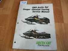 1989 Arctic Cat Snowmobile Cougar Cheetah Touring Service Manual