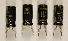 5 United Chemi-Con 10uf 35V Electrolytic Radial Capacitors NOS