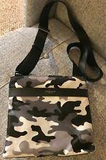 Michael Kors Kent Camouflage Camo Grey Black Nylon Mens Unisex Crossbody