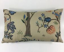 "William Morris Kelmscott Tree  Cushion Cover -  Embroidered 12"" x 18"" Stunning"