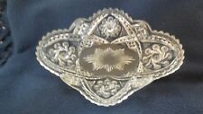 """EAPG - Indiana Glass """"Double Pin Wheel"""" pickle dish"""