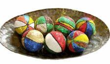 Hand beaded Mardigras Carnival Ornament Balls Colorful Hand Beaded