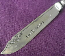 hand stamped  CHEESE KNIFE THE BIG CHEESE