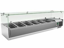 More details for refrigerated pizza saladette topper servery prep fridge display topping unit
