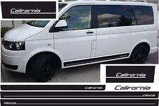 VW T4 T5 T6 BUS Seitenstreifen Set CALIFORNIA Auto Aufkleber WUNSCHFARBE