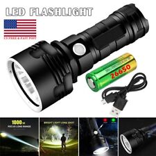 Powerful 350000LM P70 LED Flashlight 3 Modes Rechargeable Torch + 26650 Battery