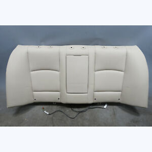 2011-2013 BMW F10 5-Series Fixed Rear Seat Backrest Oyster Beige Leather Heat OE