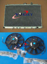 For MITSUBISHI LANCER EVO 1 2 3 CE ALUMINUM RADIATOR MT + Thermal FANS 92-94