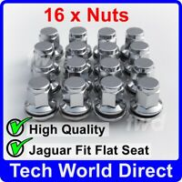 16x ALLOY WHEEL NUTS JAGUAR S-TYPE / X-TYPE CHROME LUG BOLT STUD QUALITY [16L]