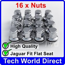16x ALLOY WHEEL NUTS JAGUAR S-TYPE / X-TYPE CHROME LUG BOLT STUD QUALITY [16L]