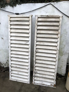 Pair Vintage Wooden Shutters - need work