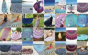 10 Pcs Wholesale Lot Indian Mandala Round Roundie Beach Throw Mandala Tapestry