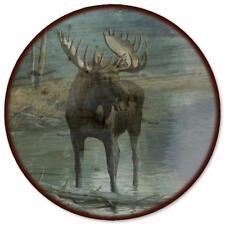 "WGI-GALLERY Quiet Water Moose Lazy Susan, 18"""
