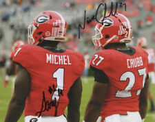 NICK CHUBB SONY MICHEL SIGNED PHOTO 8X10 RP AUTOGRAPHED GEORGIA BULLDOGS