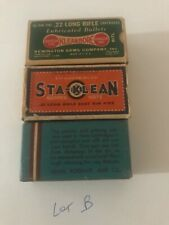 3 Old Ammo Boxes Gamble Stores Airway & Sta Klean(s) .22 Long Empty Boxes