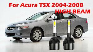 LED For Acura TSX 2004-2008 Headlight Kit H1 6000K White CREE Bulbs HIGH Beam