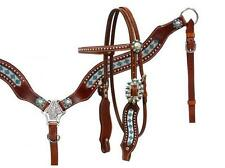 Showman Crystal rhinstone headstall and breast collar set! NEW HORSE TACK!
