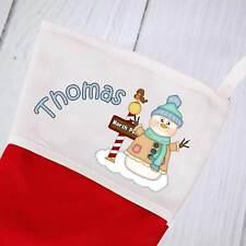 Personalised Christmas Stocking - Snowman 1 design