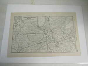 Original Vintage Map of the Pennsylvania Railroad System (Western Section)  1917