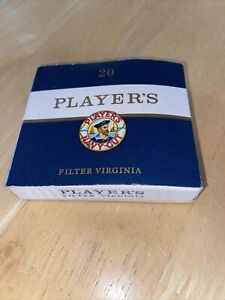 Players Navy Cut Filter Virginia 20 Hard Case Box Rare Full Of Cigarette Cards
