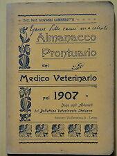 1907-ALMANACCO PRONTUARIO DEL MEDICO VETERINARIO-G.GAMBAROTTA+