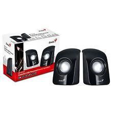 Genius SP-U115 Stereo USB Powered Speakers Multimedia Stereo Speakers In Black