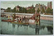 Postcard Lambeth Palace London Boats on Thames