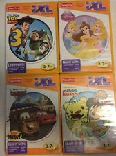 Fisher Price iXL 4 game lot Pixar Toy Story Cars 2 & Princess Nihao Kai-lan 3-7