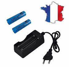 Chargeur + 2 PILES  RECHARGEABLE ULTRAFIRE 18650 3.7v 5000 mAH