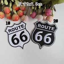 Route 66 Embroidery Badge Iron Sew On Patch Cloth Jacket Transfer  £1.69
