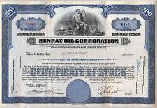 Sunray Oil Company Stock Certificate Gas DX