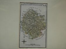 Herefordshire-Antico Inciso MAP-C1810-30 mano colorate By Leigh del Strand