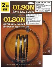 """Olson Band Saw Blades 52-3/4"""" inch x 1/8"""" & 1/4"""", Black & Decker 74-480 & 9422"""