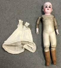 "Antique JD Kestner 148 Bisque Head Doll, Leather Body, 21"" Long, For Resto, NR"