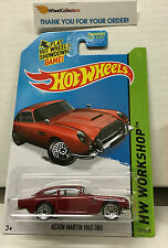 Aston Martin 1963 DB5 #245 * Dark RED * 2015 Hot Wheels * G18
