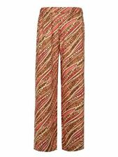 Wide Leg Floral Regular Size Pants for Women