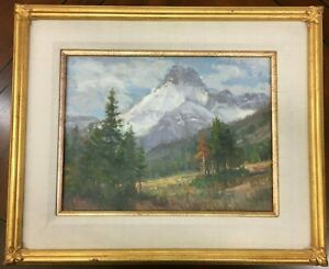 Joe Abbrescia Mt. Wilber Peak Glacier National Park 12x16 Original Oil Painting