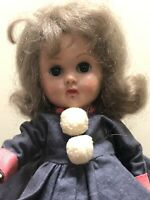 1950's VOGUE GINNY DOLL SLW GRAYISH HAIR Medford Mass Skaters Tagged outfit 8""