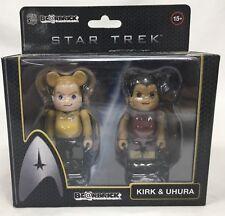 Kirk & Uhura Be@rBrick 2 Pack Star Trek BearBrick Action Figures Factory Sealed